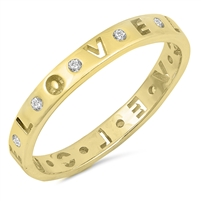Silver Ring W/ CZ - LOVE Eternity - $4.79