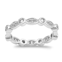 Silver CZ Ring - $6.75