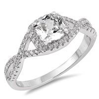 Silver CZ Ring - $7.06