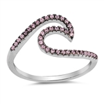 Silver CZ Ring - Wave - $5.73