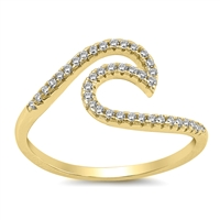 Silver CZ Ring - Wave - $4.98