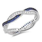 Silver CZ Ring - Braid - $8.22