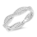 Silver CZ Ring - Braid - $7.33