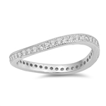 Silver CZ Ring - Slight Wave - $5.19