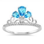 Silver Ring W/ CZ - Crown - $7.12
