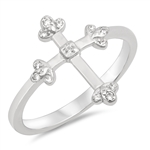 Silver Ring W/ CZ - Cross - $4.32