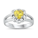 Silver Baby Ring W/CZ - $3.89