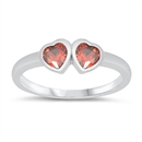 Silver Baby Ring W/ CZ - Heart - $3.34