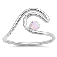 Silver Lab Opal Ring  - Wave - $4.55