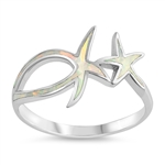 Silver Lab Opal Ring - Starfish - $9.15
