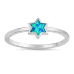 Silver Lab Opal Ring - Star - $4.24