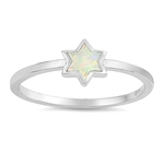 Silver Lab Opal Ring - Star - $4.64