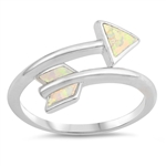 Silver Lab Opal Ring - Arrow - $5.81