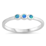 Silver Lab Opal Ring - Dots - $4.41