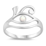 Silver Lab Opal Ring - Eye - $4.54