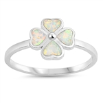 Silver Lab Opal Ring - Clover - $3.72