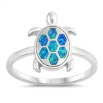 Silver Lab Opal Ring - Turtle - $4.84