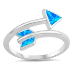 Silver Lab Opal Ring - Arrow - $5.85