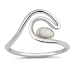 Silver Lab Opal Ring - Wave - $4.81