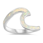 Silver Lab Opal Ring - Wave - $7.95