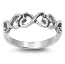 Silver Ring - Infinity Heart  -  $4.13