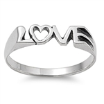 Silver Ring - Love  -  $3.90