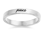 Silver Ring - Peace  -  $3.99