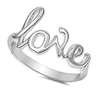 Silver Ring - Love  -  $3.23