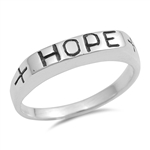 Silver Ring - Hope  -  $6.1