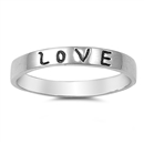 Silver Ring - Love  -  $3.27