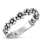 Silver Ring - Flower - $4.35