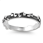 Silver Ring - Music Notes - $3.48