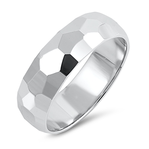 Silver Ring - Diamond Cut Band - $8.89
