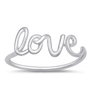 Silver Ring - Love - $2.14