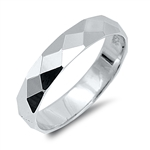Silver Ring - Diamond Cut Band - $4.15