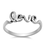 Silver Ring - Love - $2.99