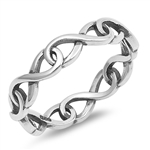 Silver Ring - Intertwined Infinity - $3.38