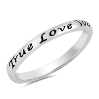 Silver Ring - True Love Waits - $3.15