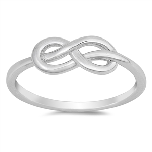 Silver CZ Ring - Infinity Knot - $2.87