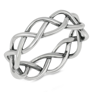 Silver Ring - Braid - $4.21