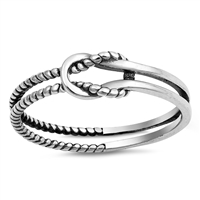 Silver Ring - Roped Knot - $2.82