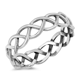 Silver Ring - Braided Band - $3.40