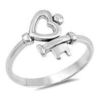 Silver Ring - Key To  My Heart - $3.89