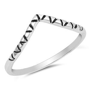 Silver Ring - V Shape - $2.64