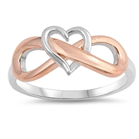 Silver Ring - Heart Infinity - $7.85