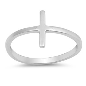 Silver Ring - Simple Cross - $2.28