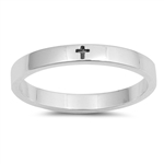 Silver Ring - Little Engraved Cross - $3.47