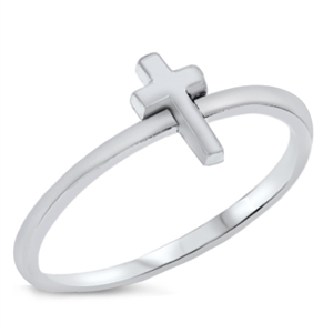 Silver Ring - Mini Cross - $1.85