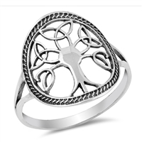 Silver Ring - Celtic Tree of Life - $3.90