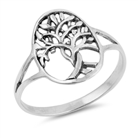 Silver Ring - Tree of Life - $3.05